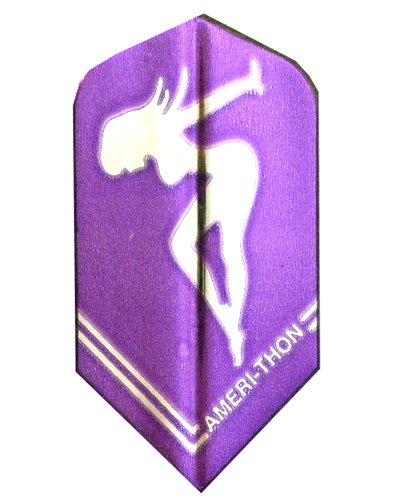 3 Sets 3467 AmeriThon PurpleSilver Chrome Girl Dart Flights