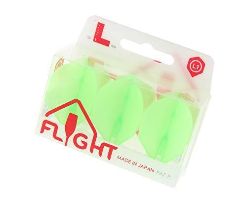 L-Style L1 EZ Standard Shape Dart Flights Extra Durable and Universal - Neon Orange
