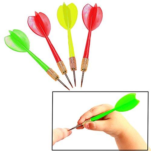 Plastic Darts Brass Tip Assorted Colors - 3 Dozen - Carnival Balloon Darts