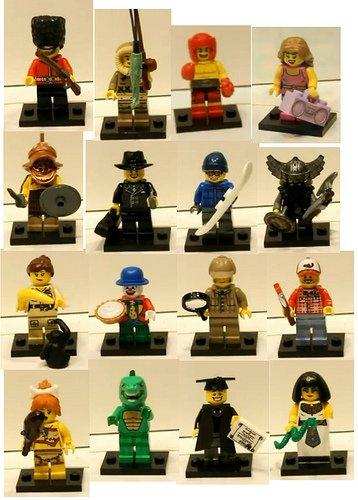 BRAND NEW LEGO MINIFIGURES SERIES 5 COMPLETE SET 16 FIGURES