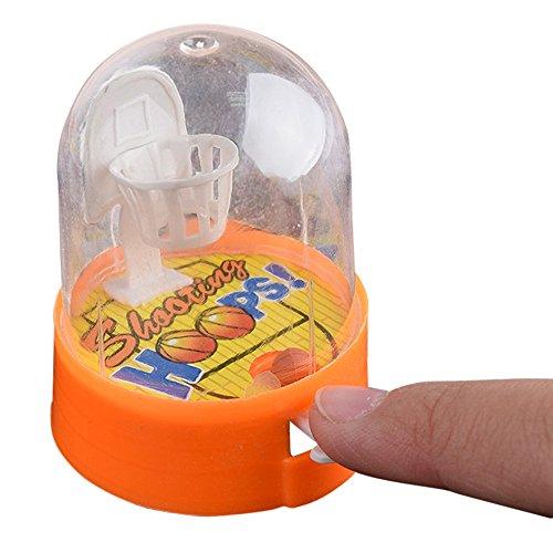 Agelloc Mini Finger Basketball Pocket Shooting Game Mini Handheld Desktop Table Basketball Game Toys Basketball Machine Anti-Stress Player for Reduce Stress Killing Time Color Random