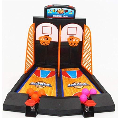 Yiiena Kids 2 Players Desktop Classic Arcade Game Basketball Shooting Game Toy Set Toy Balls