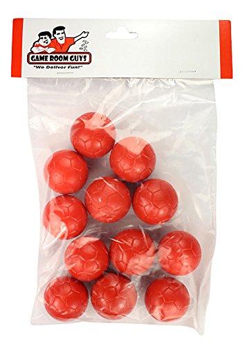 Set of 12 Red Soccer Foosballs for Tornado Dynamo or Shelti Tables