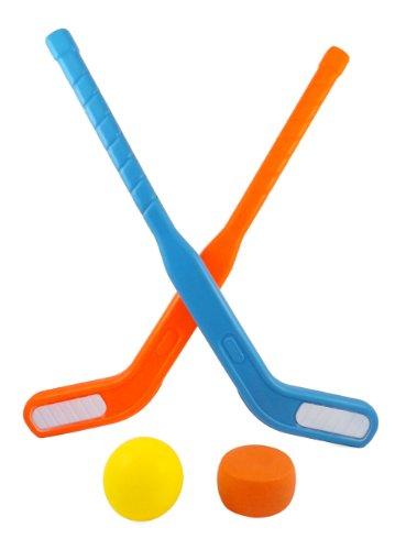 Face Off Dual Hockey Sticks Sports Set for Kids Puck Ball