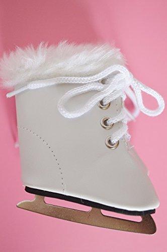 White ice skates for American Girl Dolls