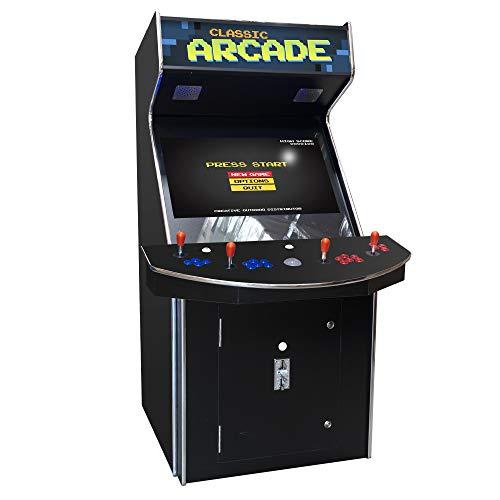 Creative Arcades Full-Size Commercial Grade Cabinet Arcade Machine  Trackball  3500 Classic Games  4 Sanwa Joysticks  2 Stools  32 Screen  3-Year Warranty