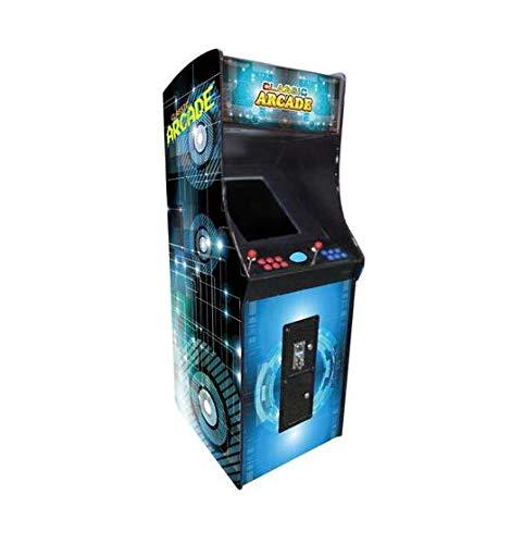 Creative Arcades Full-Size Commercial Grade Upright Arcade Machine  Trackball  3000 Classic Games  2 Sanwa Joysticks  2 Stools  3-Year Warranty