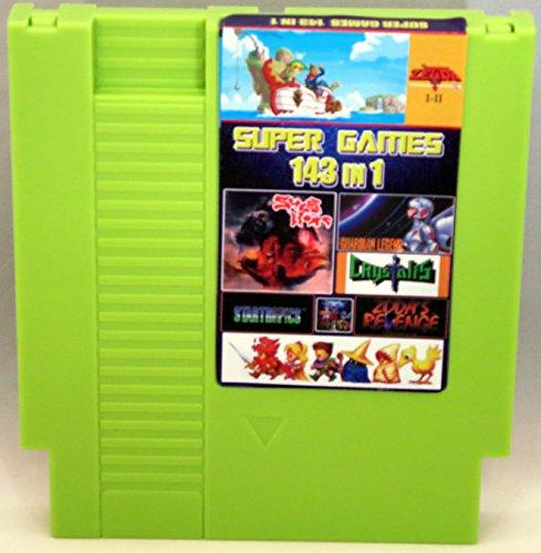 143 in 1 NES Cartridge with Battery for Saving Games - Zelda Super Mario Bros 1 2 3 Tecmo Super Bowl Final Fantasy 1 2 3 Kid Icarus