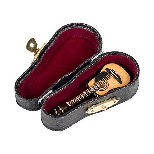 Miniature Acoustic Guitar w Case 3
