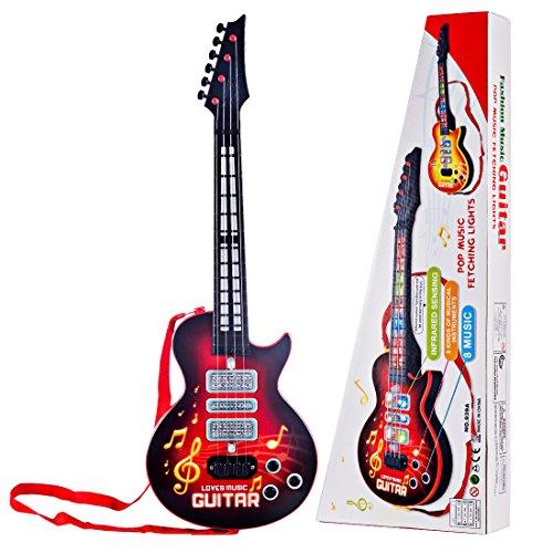 HMANE Children 4 Nylon Strings Music Electric Guitar Musical Instrument Toys for Kids Red