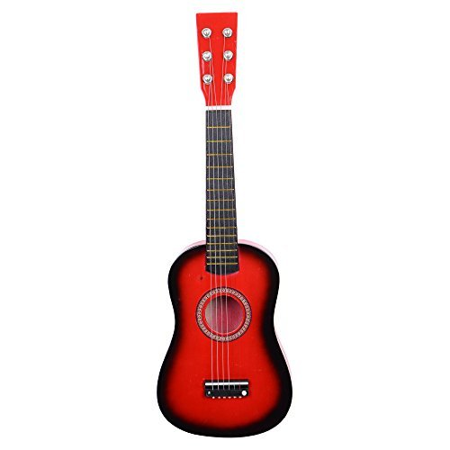 Glarry 23 inch Children Acoustic Guitar Beginner Guitar Package Kids Toy Guitar Student Guitar GuitarPickStrings Red