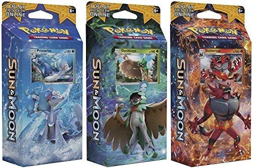 ALL 3 Pokemon Sun Moon English Theme Decks Rowlet Litten Popplio