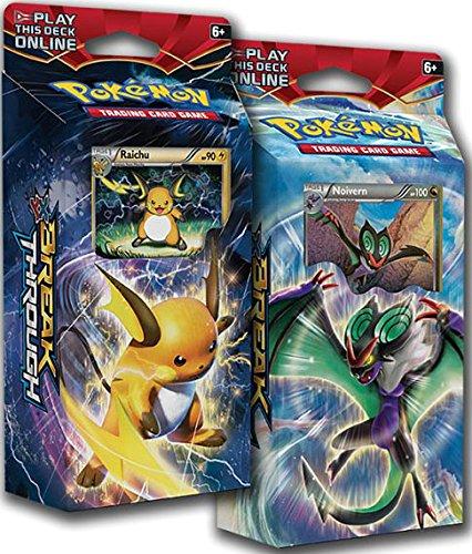 BOTH Pokemon XY8 BREAKthrough Theme Decks RAICHU NOIVERN  - TCG English Card Game