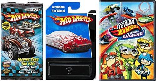 Team Hot Wheels DVD Car Fun Pack Card Awesome Set 1 Random Car  1 card Pack  HW Mystery Car New with Trading Cards fun tattoo sticker foil