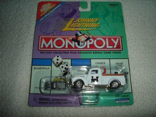 Johnny Lightning - Monopoly - Reading Railroad - Ford Truck White Replica wExclusive Bonus Miniature Metal Game Token