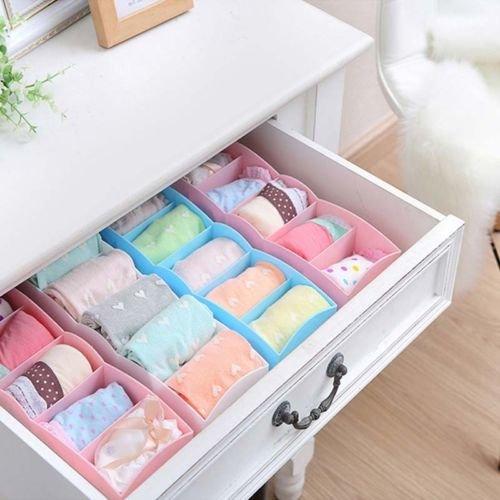 5 Cell Plastic Underwear Bras Sock Ties Organizer Storage Box Desk Drawer Closet - Country  Hong Kong