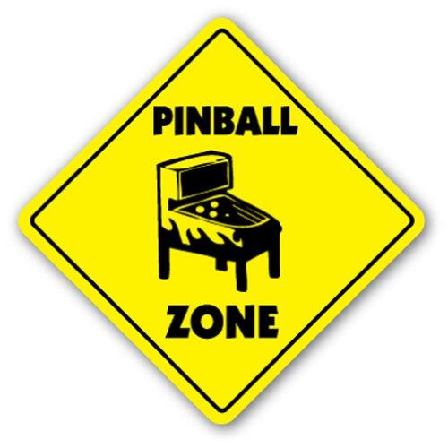 PINBALL ZONE Sign part game room arcade machine games