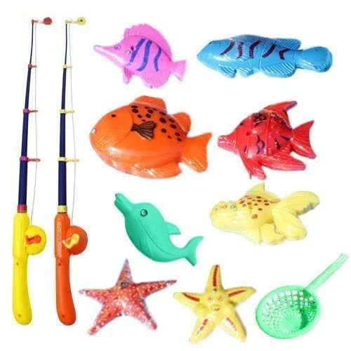 Sealive Puzzle Magnetic Fishing Game Ocean 1 Rod 6 Fish Kid Children Bath Hook Toy FunnyFor Outdoor Faimly Activity Party