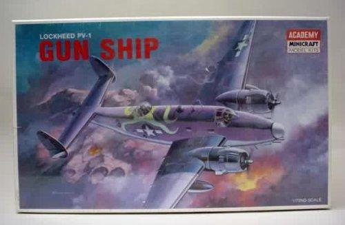 1678 AcademyMinicraft Lockheed PV-1 Gun Ship 172 Scale Plastic Model KitNeeds Assembly