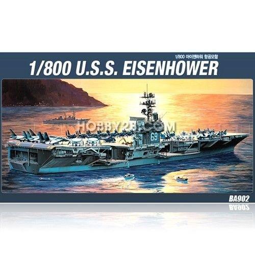 Academy 1800 USS Eisenhower Aircraft Carrier Ship Plastic Model Kit 14212 ITEMG839GJ UY-W8EHF3114929