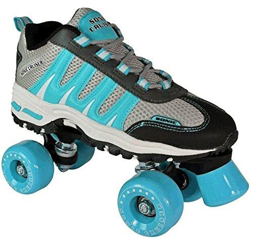 Sonic Cruiser Teal Outdoor Sneaker Skates Mens 8  Ladies 9