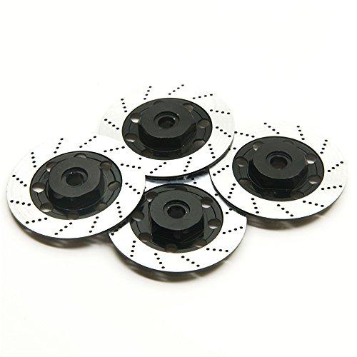 Jack-Store 4 Pcs Brake Discs for Sakura D4 110 Drifting RC Car Black