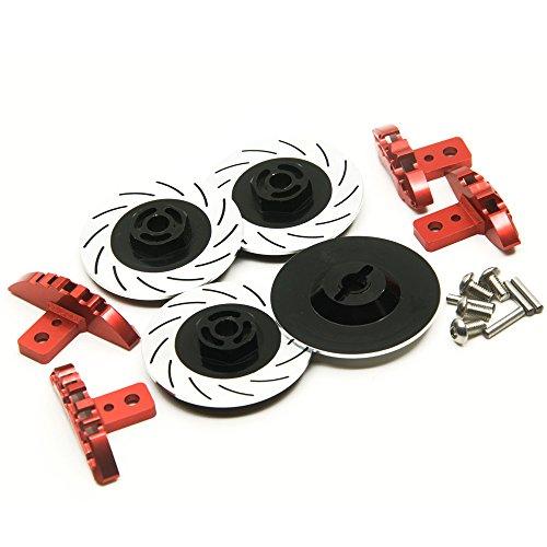 KingModel-CA A Set of Brake Discs and Calipers for 110 Sakura D4 Racing Drift RC Car Black