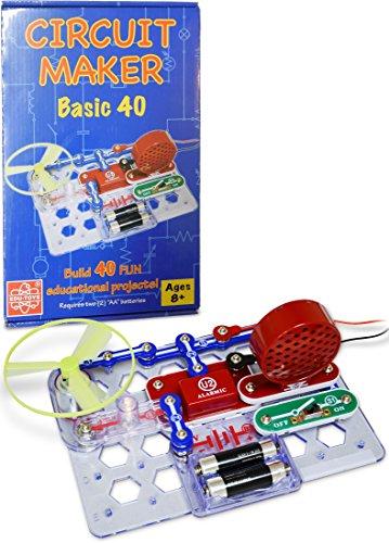 Elenco Circuit Maker 40 Basic Electronics Discovery Kit