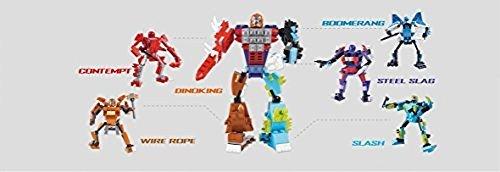Xipoo xipoo ultimate warrior blocks series bundle of 5 ROBOTS set CONTEMPT red robot 102 pcs BOOMERANG blue robot 79 pcs STEEL SLAG parallel import goods