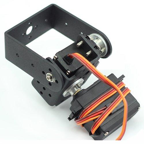 Mallofusa 2 DOF Pan and Tilt with Mg995 Servos Sensor Mount for Arduino Robot Set Car Plane DIY with Mallofusa Cable Tie