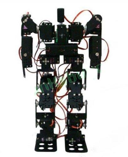 Gowe 17DOF Biped Robotic Educational Robot Kit Servo Bracket Ball Bearing Black Servo horn is included