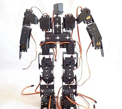 SainSmart 17DOF Biped Black Educational Robot Kit with Servo Bracket Ball Bearing for Hobbyists Robot Competition Kids