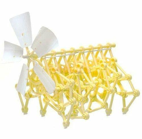UZZO Interesting Mini DIY Assembly Puzzle Kids Toys Wind-powered Walking Walker Scientist Strandbeest Model Robot Kits Toy
