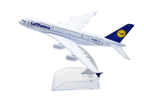 TANG DYNASTYTM 1400 16cm Air Bus A380 Lufthansa Airlines Metal Airplane Model Plane Toy Plane Model