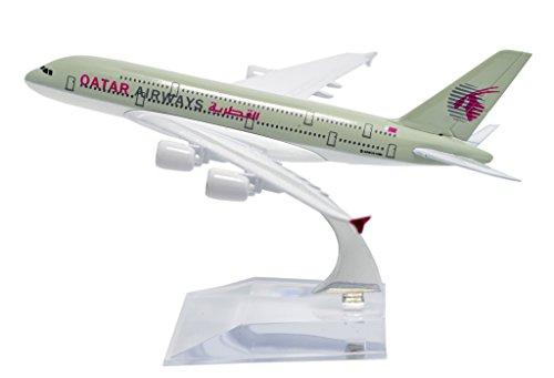 TANG DYNASTYTM 1400 16cm Air Bus A380 Qatar Airways Plane Metal Airplane Model Plane Toy Plane Model