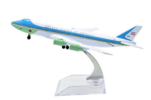 TANG DYNASTYTM 1400 16cm Air Force One Boeing B747 Metal Airplane Model Plane Toy Plane Model