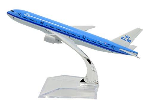 TANG DYNASTYTM 1400 16cm Boeing B777 KLM Metal Airplane Model Plane Toy Plane Model