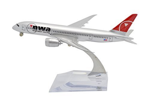 TANG DYNASTYTM 1400 16cm Boeing B787 Northwest Airlines Metal Airplane Model Plane Toy Plane Model