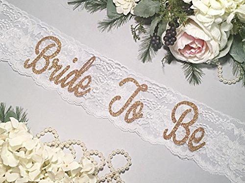 Bachelorette Sash - HANDMADE - Bride To Be Sash - Lace Bachelorette Sash - White Lace