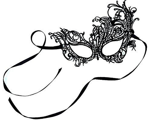 Venetian Black Masquerade Mask,Lace Halloween Phoenix mask
