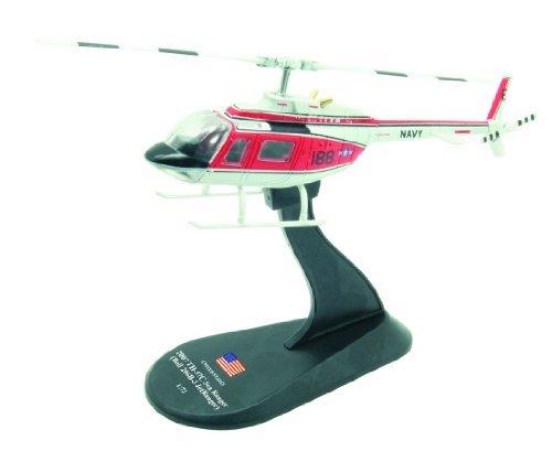 BELL 206 JetRanger diecast 172 helicopter model Amercom HY-17