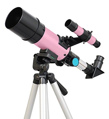 Pink Twinstar 60mm Compact Kids Refractor Telescope