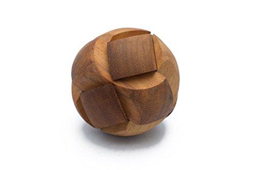 SiamMandalay 3D Brain Teaser Pulsar - Wooden Interlocking Mechanical Puzzle