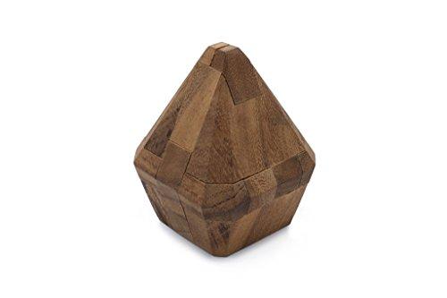 SiamMandalayBrilliant Diamond - Interlocking Mechanical Puzzle a Handmade Wooden 3D Brain Teaser for Adults Free Lifetime Guarantee