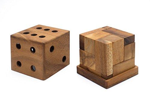 SiamMandalayHigh Roller Soma Cube Interlocking Cube Mechanical Puzzle - 3D Brain Teaser