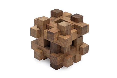 SiamMandalayLock it Away - Burr 3D Wooden Teaser Interlocking Mechanical Puzzle 3D Brain Teaser Puzzle with Lifetime Guarantee