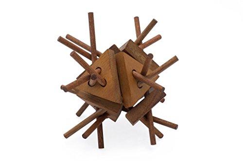 SiamMandalay Porcupine Stick Structure - Wooden Interlocking Mechanical Puzzle Organic Brain Teaser 3D Puzz