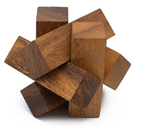 Mini Lumberjack Handmade Organic Wooden Burr Puzzle for Adults from SiamMandalay