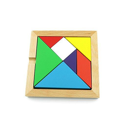 1 PCS Toys Brainteaser Disentanglement Logic Mind Development Creative Thinking Puzzle Game WY0140 Thick Tangram