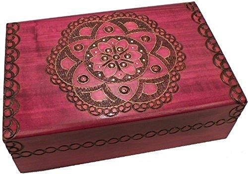 Polish Handmade Floral Jewelry Box Secret Puzzle Box Wood Keepsake